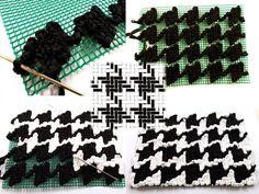 Cluth Trapillo Bolso Pata de Gallo  Tutorial Have a look! ❥Teresa Restegui http://www.pinterest.com/teretegui/❥