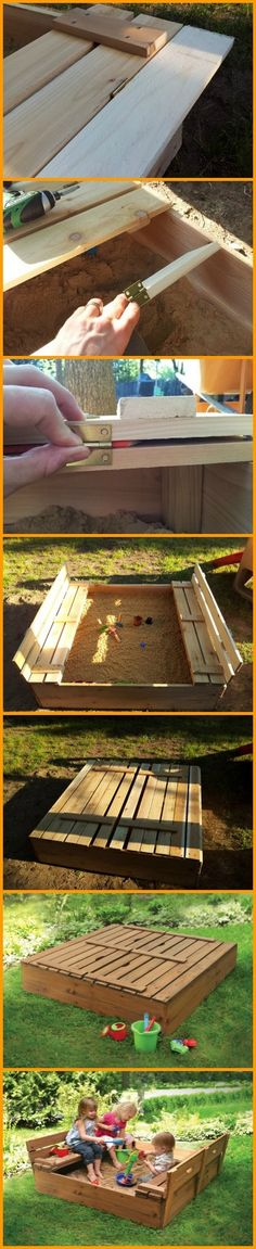 A DIY sandbox that keeps the sand in and the cats out!  Is this a good idea?  http://theownerbuildernetwork.co/9zwm