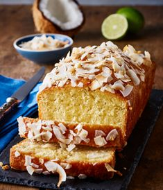 Coconut Lime and Rum Drizzle Cake | Taste & Smile