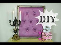 DIY Tufted Frame Tutorial. #diy #tufting #princessroom