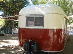 1951 M Systems Breadloaf Vintage Trailer front view