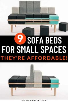 Whether you are in an apartment, tiny house, cabin, motorhome or other small space, a sofa is so important! We have found a wide variety of chairs, sofas, and chaise-lounges, that will transform and fold into a nice bed for the night. With designs from all over the world you're sure to find something perfect for you small space! Space Saving Beds, Space Saving Furniture, Chaise Sofa, Chaise Lounges, Sofa Bed For Small Spaces, Folding Sofa Bed, Transforming Furniture, Storage Hacks, Smart Design