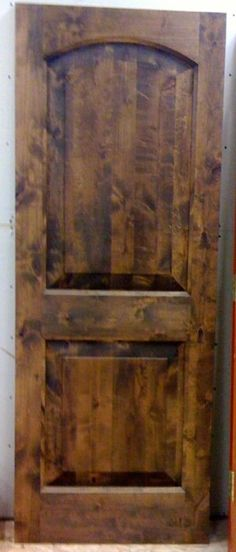 Knotty Pine Barn DoorDark Walnut Stain Interior