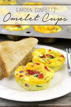 Garden Confetti Omelet Cups. So easy and my whole family loved them! Easy to make ahead and reheat! #sponsored