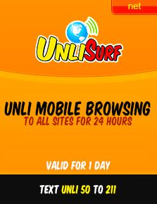Talk N Text Unli Yahoo! - Browse your Yahoo! emails and even use you Yahoo! messenger via mobile browser (no app needed). For only P15/day, to register text YAHOO UNLI and send to 211,