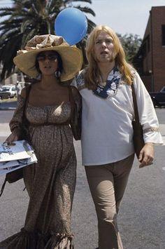 Pregnant Cher and Greg Allman