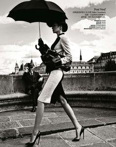 Impeccable French Fashion - Harper's Bazaar China 'Une Journee a Paris' Stars a Glam Miao Bin (GALLERY)