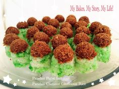 PANDAN PULUT INTI Coconut Glutinous Rice | My Bakes, My Story, My Life!