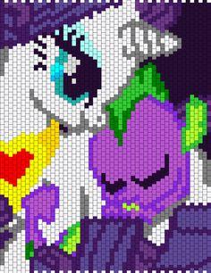 My Little Pony Rarity And Sleeping Baby Spike bead pattern