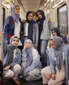 Behind every successful woman is a tribe of other successful women who have her back 👑 How stunning do these ladies look 💙🤩 RAMADAN SALE Casual Hijab Outfit, Denim Outfit, Hijab Dress, Hijab Look, Hijab Style, Muslim Fashion, Modest Fashion, Fashion Outfits, Hijabi Girl