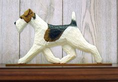 Fox Terrier (Wire) (Dog in Gait) Topper. Home Decore Dog Products & Dog Gifts.