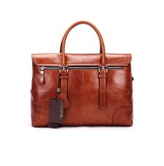 A soft leather brown briefcase/messenger bag - for real gentlemen!
