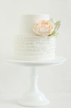 Simple wedding cake for a small wedding.