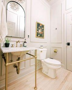 Mold In Bathroom, Downstairs Bathroom, Bathroom Renos, Small Bathroom, Bathroom Moulding, Bathrooms, Bathroom Inspo, Bathroom Styling, Bathroom Ideas