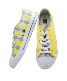 Take a look at this XOLO Shoes Yellow & Gray Sunny Sneaker - Women on zulily today! Heeled Boots, Shoe Boots, Walking Tall, Blue Suede Shoes, Cool Style, My Style, Cute Girl Outfits, Mellow Yellow, Beautiful Shoes