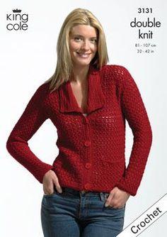 King Cole Bamboo DK Jacket & Top Crochet Pattern 3131