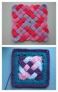 Celtic Knot Squares Free Crochet Pattern