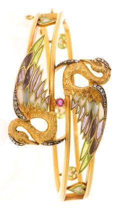 Lluís Masriera Rosés (Barcelona 1872 - 1958) A gold, enamel and precious stones Modernist ring, circa 1902 | Balclis Barcelona
