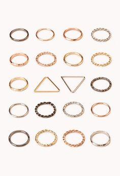 Favorite Midi Ring Set | FOREVER 21 - 1000126310