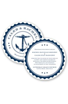 Chart Our Course Wedding Invitation by David's Bridal