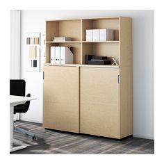 GALANT Aufbewahrung mit Schiebetüren - Birkenfurnier - IKEA