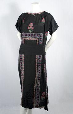 Adair beaded silk dress, 1920s