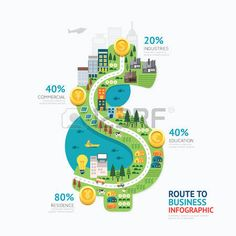 9,001 Road Infographic Stock Vector Illustration And Royalty Free ...