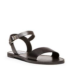 4f521542e96b Steve Madden Black DONDDI Sandal - 7.5 8 Black Leather Flats