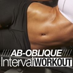 Target your whole belly with this fast-paced Ab-Oblique Interval Workout from Skinny Ms.