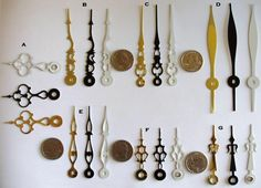 MixnMatch 6 Clock Hands by Antickquities on Etsy