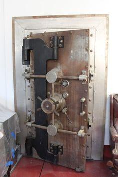 Antique Diebold Crane Hinge Door