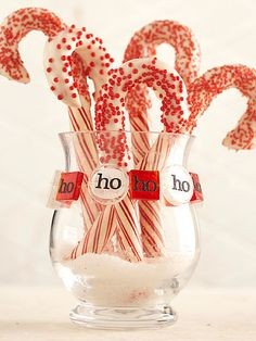 Dressing up the candy cane for Christmas with white chocolate and sprinkles. Neighbor, teacher aid, cross walk, office staff, or simply add to hot chocolate special night desert