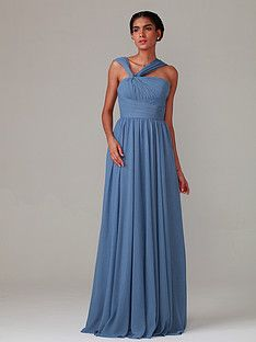 Pleated Bodice Chiffon Dress | Plus and Petite sizes available! Hundreds of styles, tons of colors!
