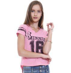 Blusa juvenil manga curta Minnie | Blusas | De Mulher Para Mulher, Marisa