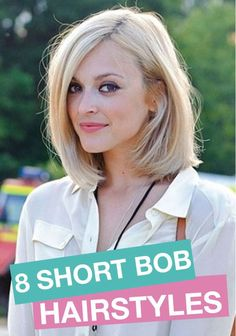 Try a new hairstyle! Switch things up with these adorable short bobs.