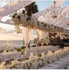 Tying the Knot In Tel Aviv Has Never Looked Better simple elegant beach wedding ceremony ideas Magical Wedding, Perfect Wedding, All White Wedding, Wedding On The Beach, Seaside Wedding, Glamorous Wedding, Rustic Wedding, Dream Wedding Dresses, Wedding Flowers