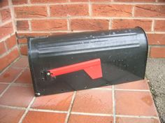 Classic-US-MAIL-Black-Aluminium-Post-Letter-Box-CHEAPEST-ON-E-BAY