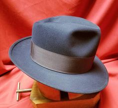 31b63454407 Reserved ~Mens ~ Beautiful ~ Rich ~ Fedora ~ Large ~ Midnight Blue ~ Mr.  Disney ~ Oxford Fifteen ~ Large 7 1 2 WoW!! Western Hats
