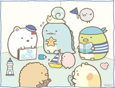 Sumikko gurashi as sailors