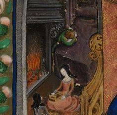 A rediscovered image of Prince Henry (Henry VIII) as a child, weeping at his mother's empty death bed.  Poor kid.