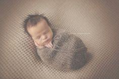 Newborn Swaddle Sack and bonnet set - knit cocoon - newborn baby bonnet - photography prop