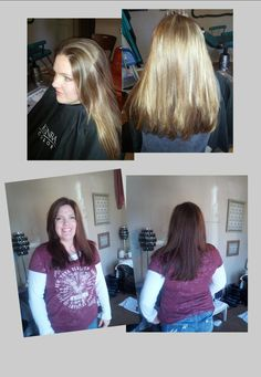 A great before/after from The Spa at Wynie Mae's! | Kenra Professional. Kenra Color. Hair Color.
