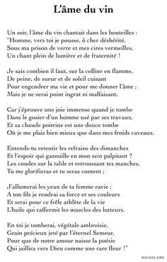 L'âme du vin         - Charles Baudelaire