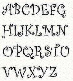 Alphabet Letter Patterns | Alphabet Curlz Font ... by Linleys Designs | Quilting Pattern