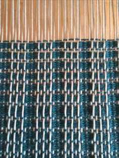 On the loom: warp floats with pick up stick