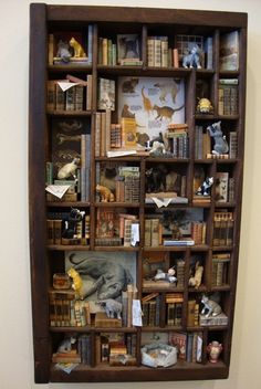 Miniature Library miniature thematic   invasion of by bagusitaly, $750.00