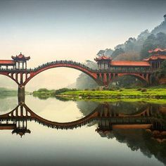Leshan Giant Buddha Bridge - photo from Twitter ...can't get to photo...