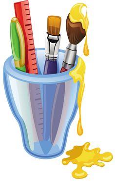 "Photo from album ""Карандаши,ручки"" on Yandex. School Clipart, Colored Pencil Techniques, Cartoon Pics, Art Party, Writing Paper, Crayon, Graphic Design Art, Art School, School Supplies"