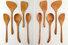 Left handed spoons! I love wooden spoons