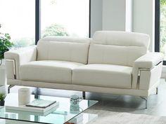 Canapé 3 places en simili HIPPOLYTE - Blanc